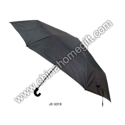 Auto Open 3 Sections Black Umbrella