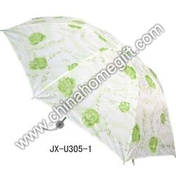 Green Flower Pattern Umbrella