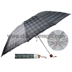 Big size grid folding umbrella
