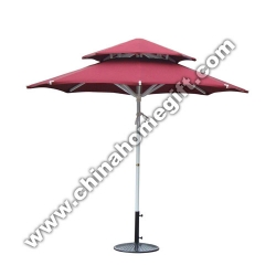 Double Layer Round Garden Umbrella