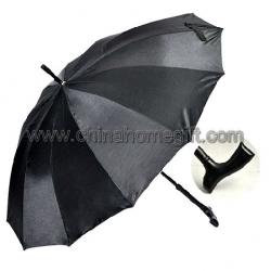 12K Black Straight Umbrella