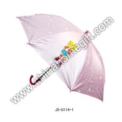 Pink Cartoon Kids Umbrella