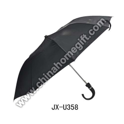 Black Umbrella with J Plastic Handle