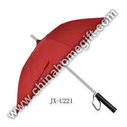 Auto open flashlight umbrella