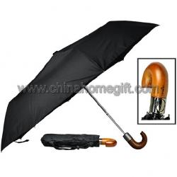 Auto Open Wooden Handle Umbrella