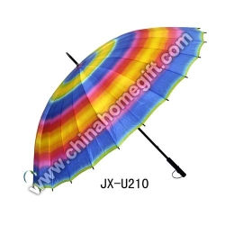 Colourful 24K Chinese Golf Umbrella