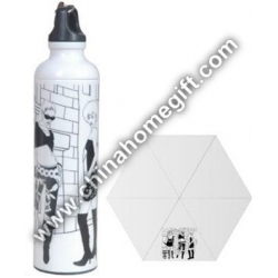 Aluminum Frame Water Bottle Umbrella