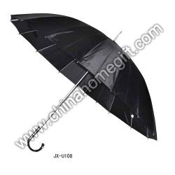 Mens' 16k Black Umbrella