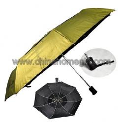 Auto open & close, windproof three folding umbrella