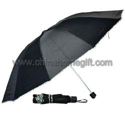 Black Fold Umbrella with Handle Box