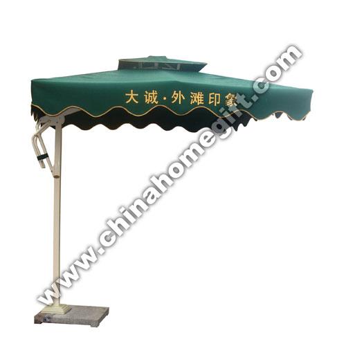 Side Post Square Garden Umbrella