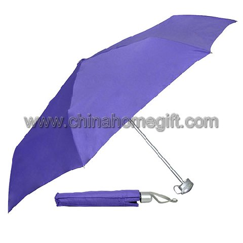 Manual Open Purple Umbrella