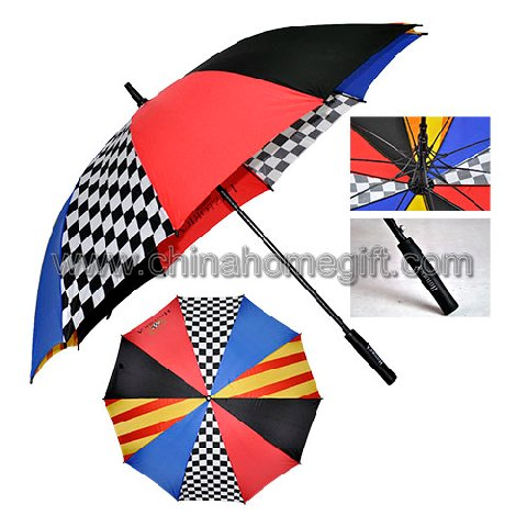 Colorful golf umbrella