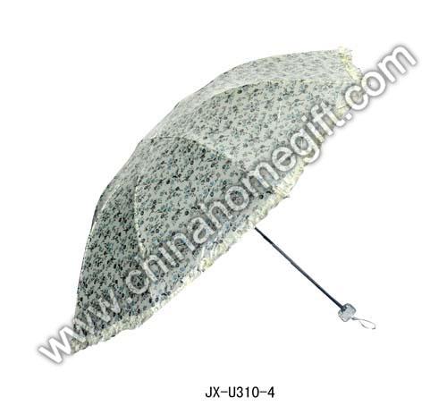 White Green Floral Umbrella