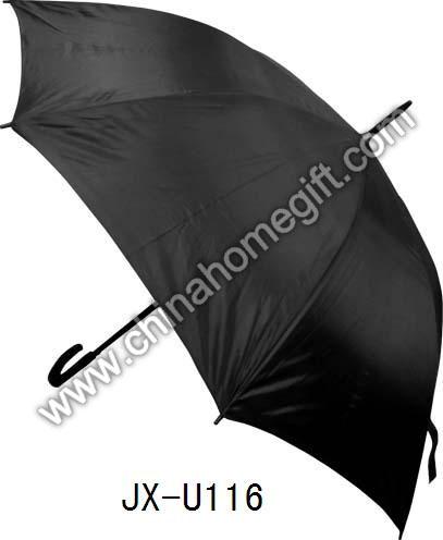 Mens' Black Straight Umbrella