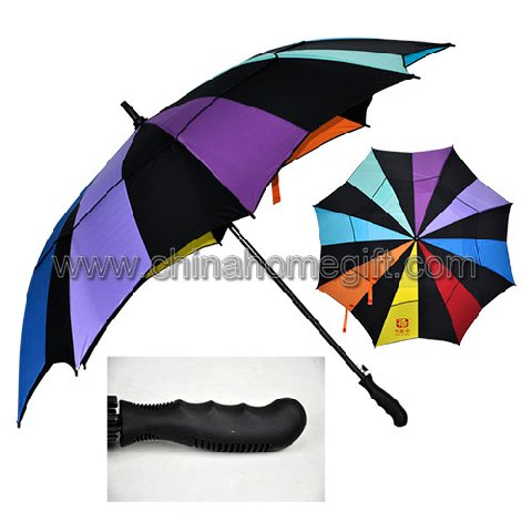 Colorful Double Layer Windproof Golf Umbrella