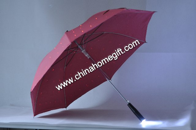 red LED umbrella