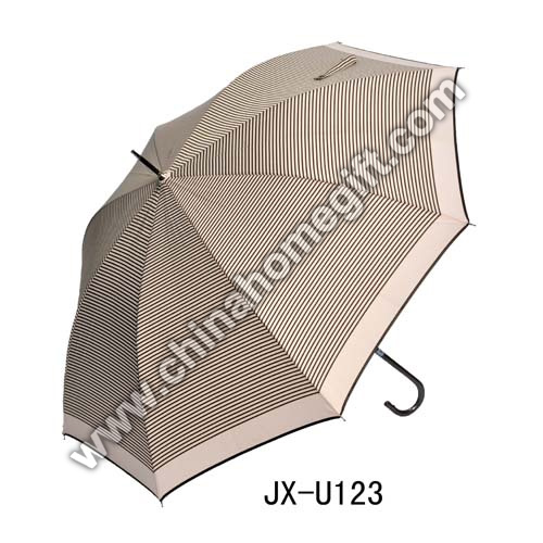 Automatic Open Stripe Straight Umbrella
