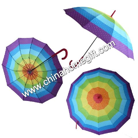 Colorful rainbow umbrella