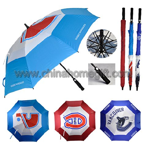 Double canopy windproof golf umbrella