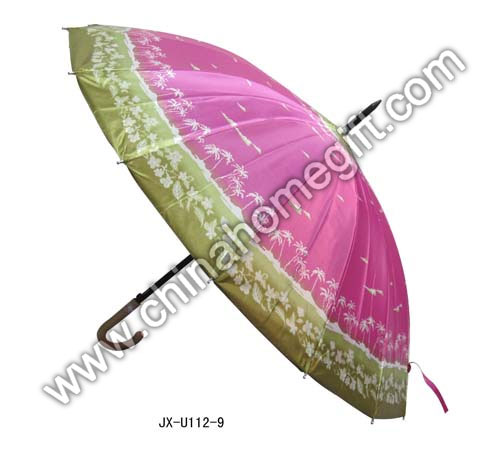 Colorful Straight Umbrella with J Handle