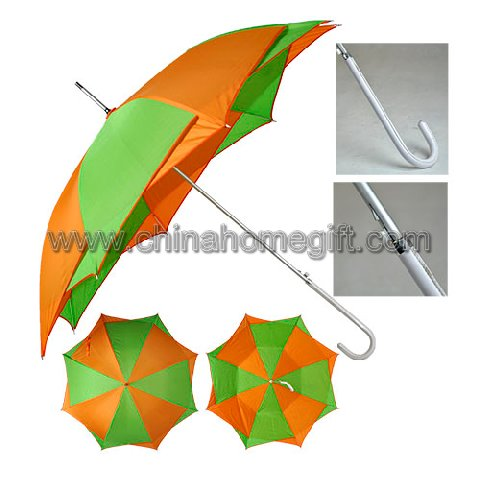 Double Layer Aluminium Umbrella