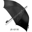 Mens' Black Straight Umbrella