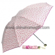 Flower pattern folding umbrella