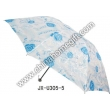 Light-Colored Floral Pattern Umbrella