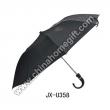 Black Umbrella with J Plastic Handle