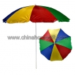 colourful beach umbrella