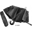 Black curved handle umbrella