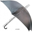 Black Manual Open Straight Umbrella
