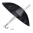 Mens' 16k Black Umbrella
