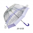 Plastic Straight Umbrella with J handle